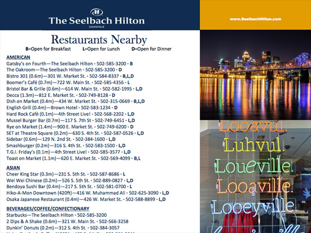 Downtown Louisville Restaurants