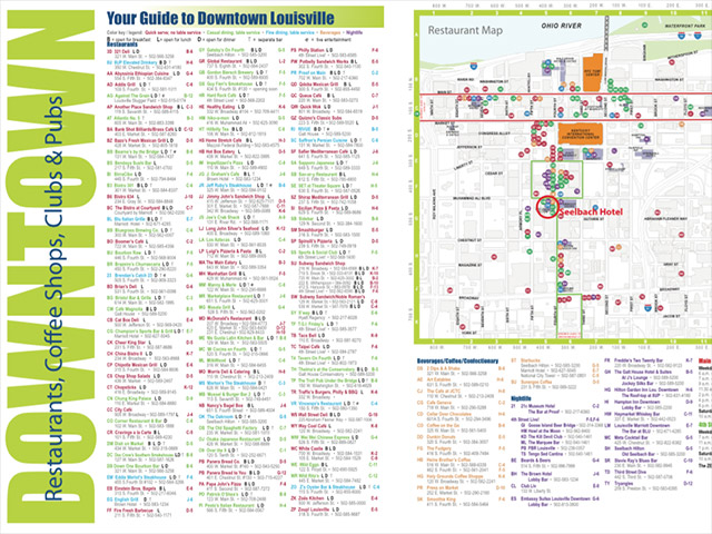 Downtown Louisville Visitors Map