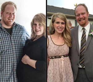 Nick and Jessica Enns Before and After Weigh Down