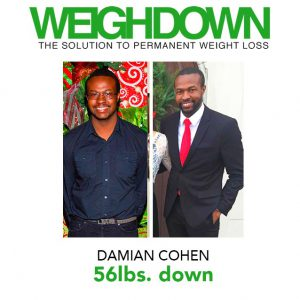 Damian Cohen Before and After Weigh Down Ministries